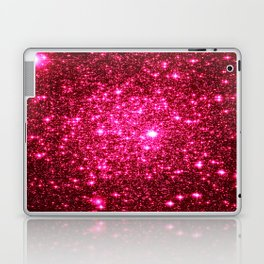 Hot Pink Glitter Galaxy Stars Laptop & iPad Skin