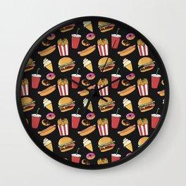Fast-food (black) Wall Clock