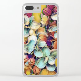 Painted Lilacs Clear iPhone Case