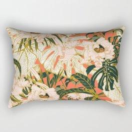 Flowering tropical coral bloom Rectangular Pillow