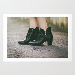 Leather Booties Art Print