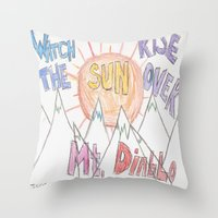 diablo Throw Pillows featuring Mt. Diablo by Sarah Hinds