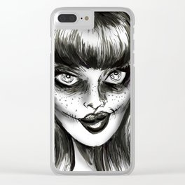 Dark Wave Swells Clear iPhone Case