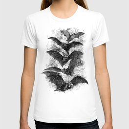 Vintage Halloween Bat Etching T-shirt