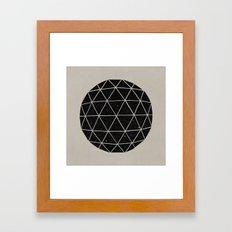 Geodesic Framed Art Print