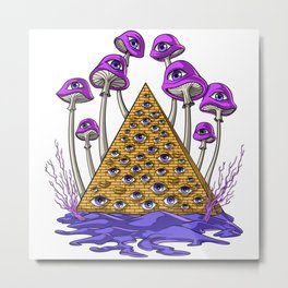 Psychedelic Egyptian Pyramid Metal Print
