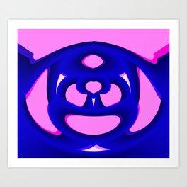 Pink Life Overlay Art Print