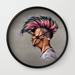 RGD Punk Rock Girl Portrait | Nikki the Bee Wall Clock