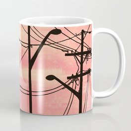 Industrial poles peach Coffee Mug