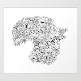 """traveller """"zxy"""" Art Print"""