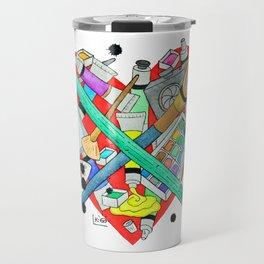 watercolor art materials Travel Mug