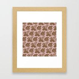 Pegasus Pattern Dusty Rose and Brown Framed Art Print