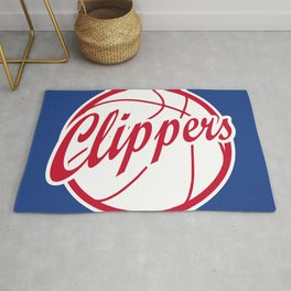 Clippers vintage baskeball logo Rug