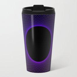 Blueberry Vortex Black & Blue Circular Design Travel Mug