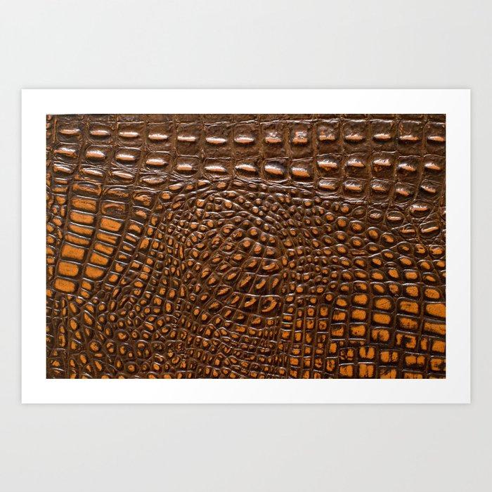 Alligator Crocodile skin | texture #home #lifestyle Kunstdrucke