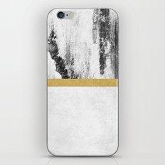 Golden Line / White iPhone & iPod Skin