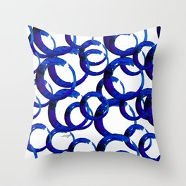 Enso Of Zen No. 21 by Kathy Morton Stanion Throw Pillow