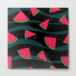 Watermelon slice . Metal Print