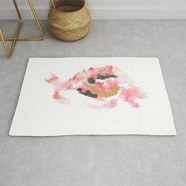 Watercolor Pink Black Gold Flow | [dec-connect] 47. loved Rug