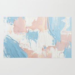 Pink and Blue Abstract Rug