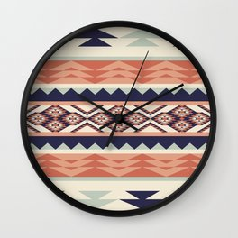 Native American Geometric Pattern Wall Clock