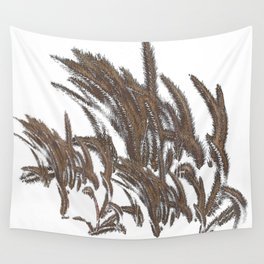 Wheat Stalks Turn In The Wind Wall Tapestry