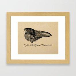 Nevermore - Edgar Allan Poe - Quoth the Raven Framed Art Print