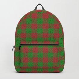 Accident, Medium Carmine on Forest Green Ungulate Plaid Backpack