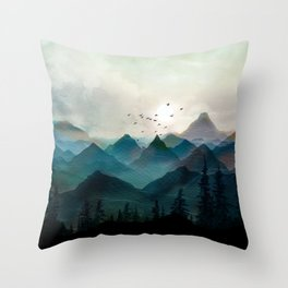 Mountain Sunrise II Throw Pillow