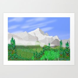 Mount Rundle Art Print