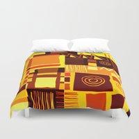 african Duvet Covers featuring African feel by clemm