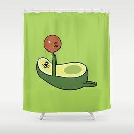 Acro- Yocado Shower Curtain