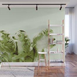 Monochrome - the lemur honeytrap Wall Mural