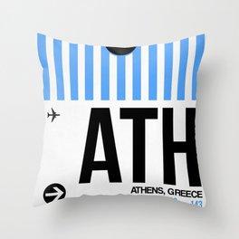 ATH Athens Luggage Tag 1 Throw Pillow