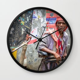 Rickshaw Wall Clock