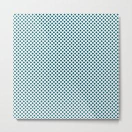 Ocean Depths Polka Dots Metal Print