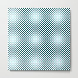 Ocean Depths Polka Dots Metal Print