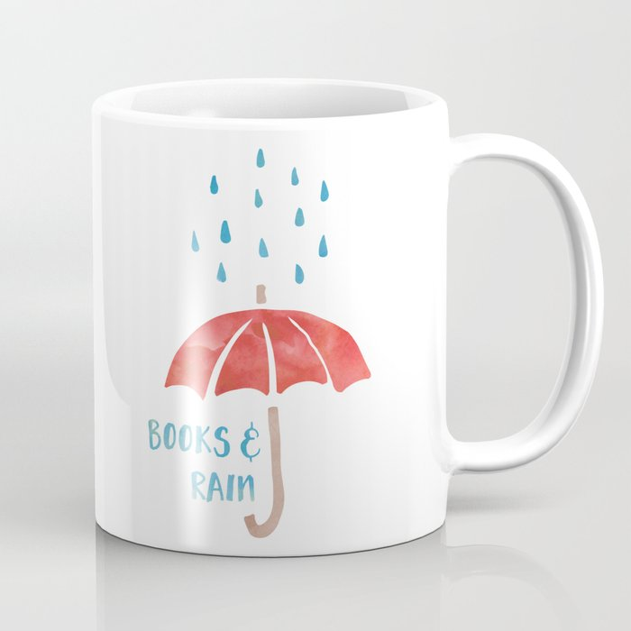 Books and Rain Coffee Mug by bookwormboutique | Society6