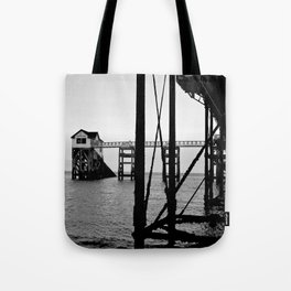 Pier B&W Tote Bag