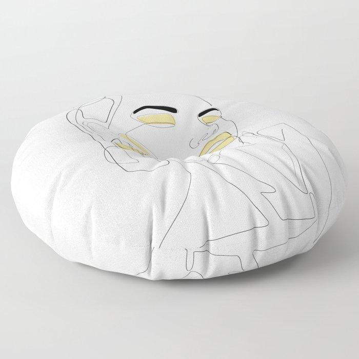 Lemon Splash Floor Pillow