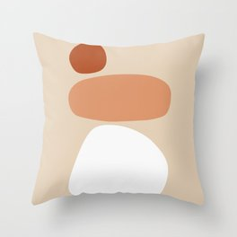 Abstract Shape Series - Stacking Stones Throw Pillow