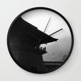 Nikko temple 002 Wall Clock