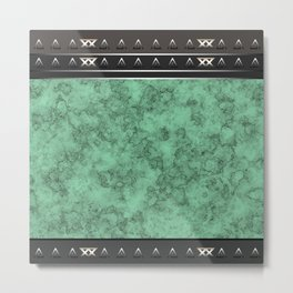 Marble . green marble pattern . Metal Print
