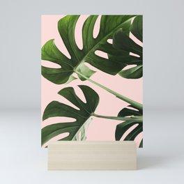 Monstera x Pink Mini Art Print