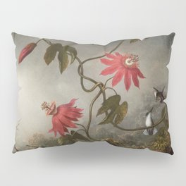 Passion Flowers With Hummingbirds 1883 By Martin Johnson Heade | Reproduction Pillow Sham
