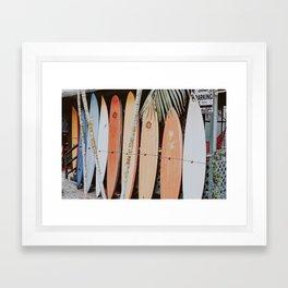 lets surf ii Framed Art Print
