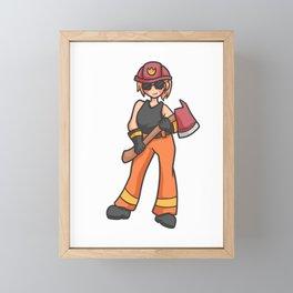 Firemen Girl Power Girl Power Mama 112 gift Framed Mini Art Print