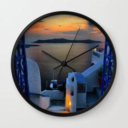 Santorini 15 Wall Clock