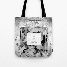 Perfume Black and White Tote Bag