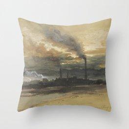 Thomas Moran Smelting Works in Denver Throw Pillow